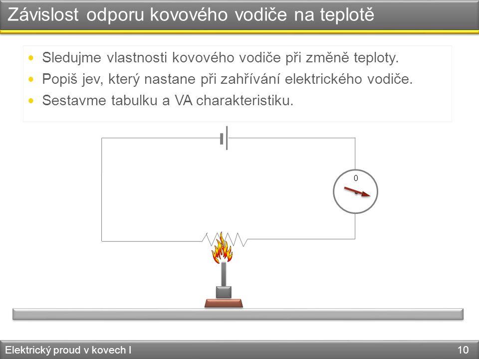 Závislost odporu kovového vodiče na teplotě