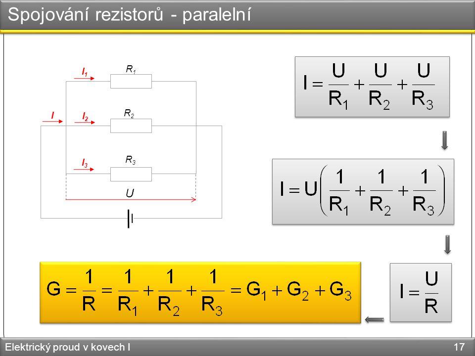 Spojování rezistorů - paralelní