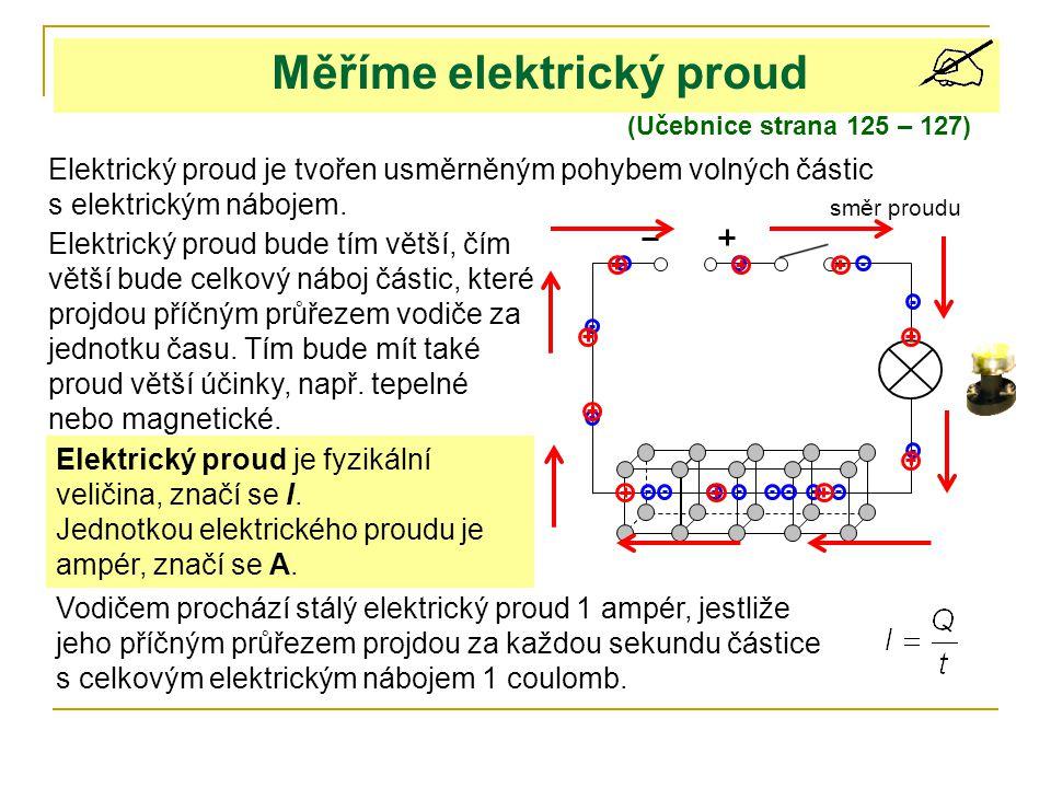 Měříme elektrický proud