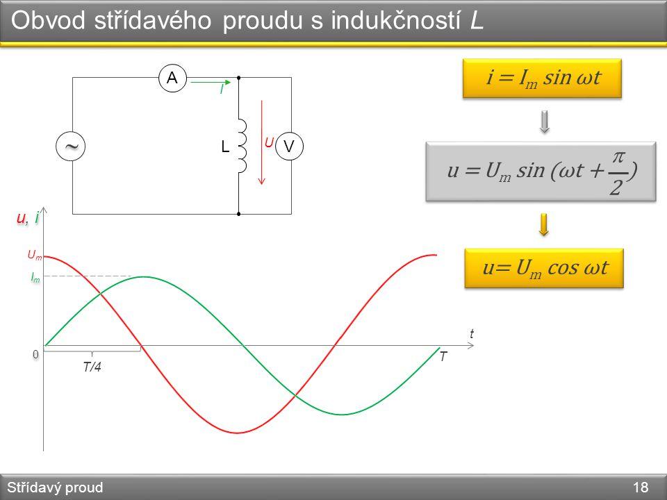 Obvod střídavého proudu s indukčností L