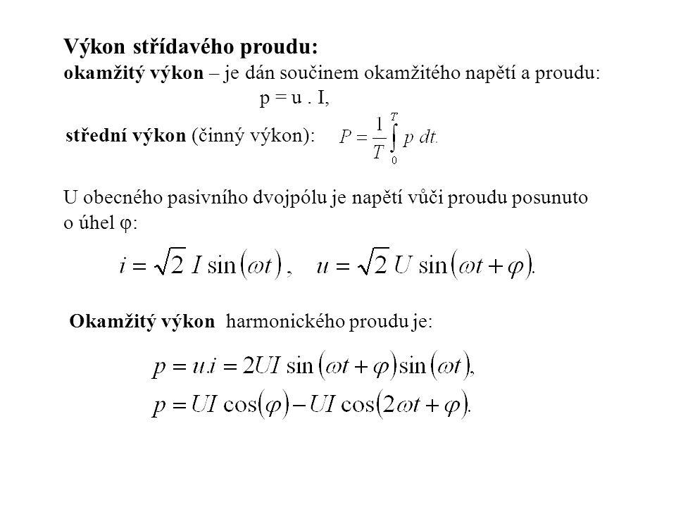 střední výkon (činný výkon):