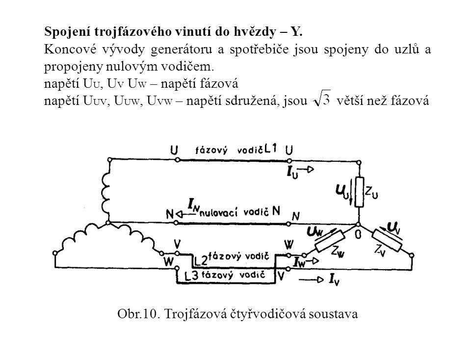 Obr.10. Trojfázová čtyřvodičová soustava