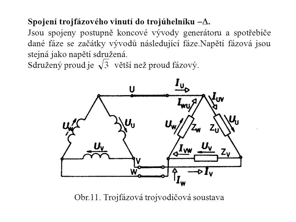 Obr.11. Trojfázová trojvodičová soustava