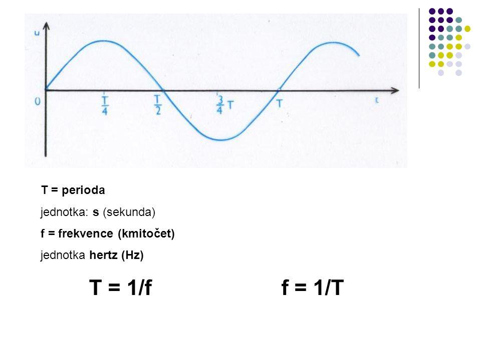 T = 1/f f = 1/T T = perioda jednotka: s (sekunda)