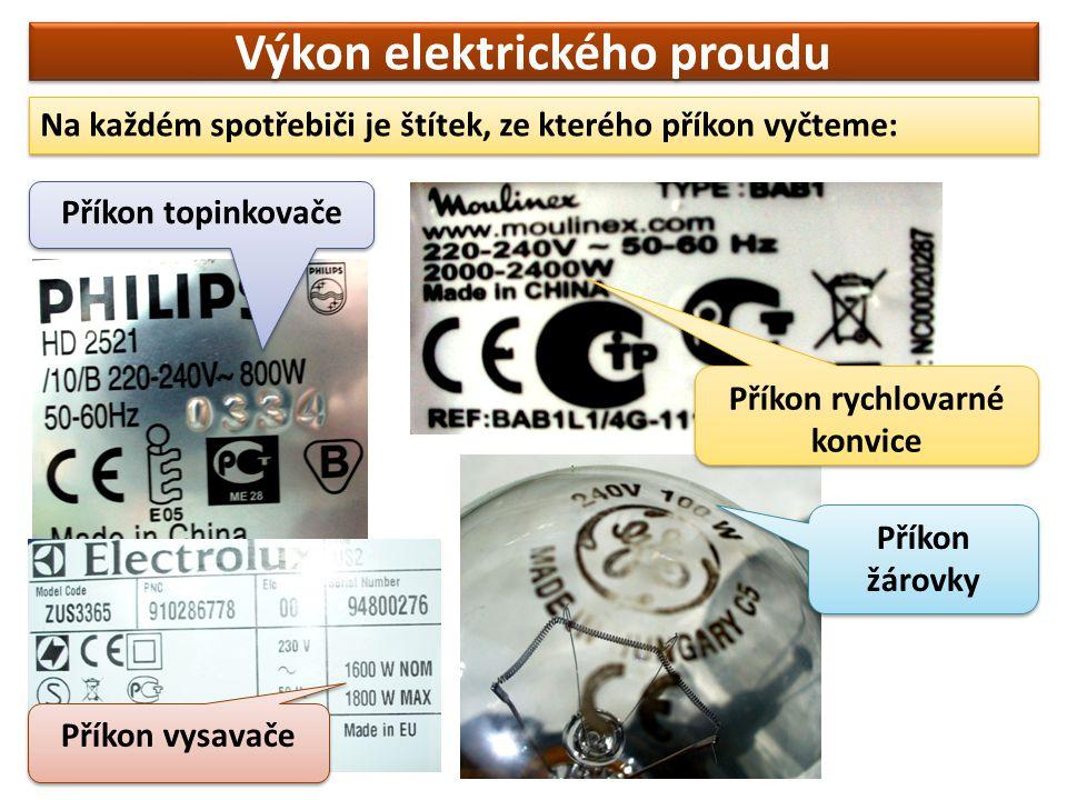 Výkon elektrického proudu