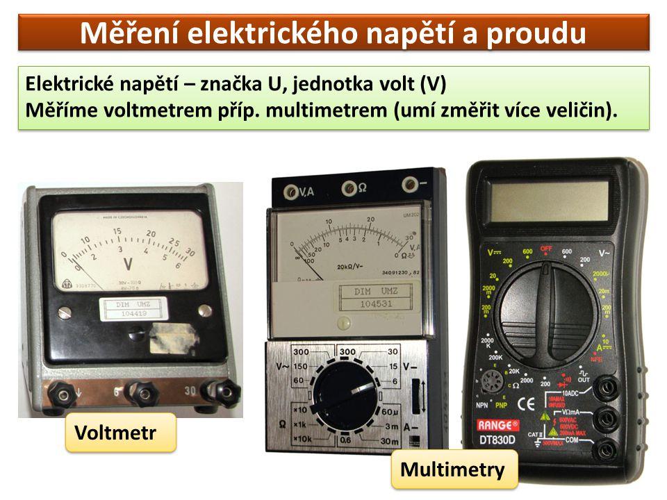 Měření elektrického napětí a proudu
