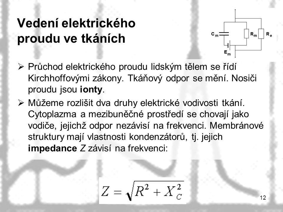 Vedení elektrického proudu ve tkáních
