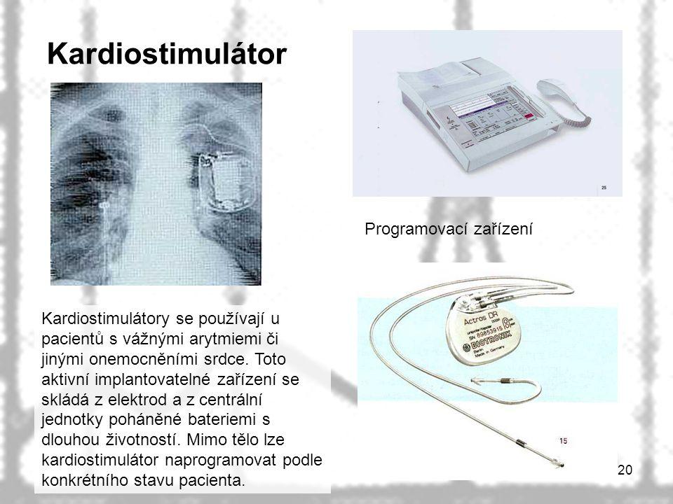 Kardiostimulátor Programovací zařízení