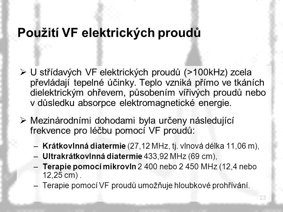 Použití VF elektrických proudů