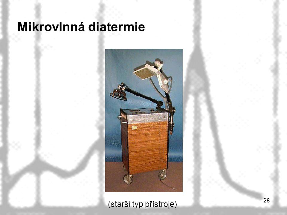 Mikrovlnná diatermie (starší typ přístroje)