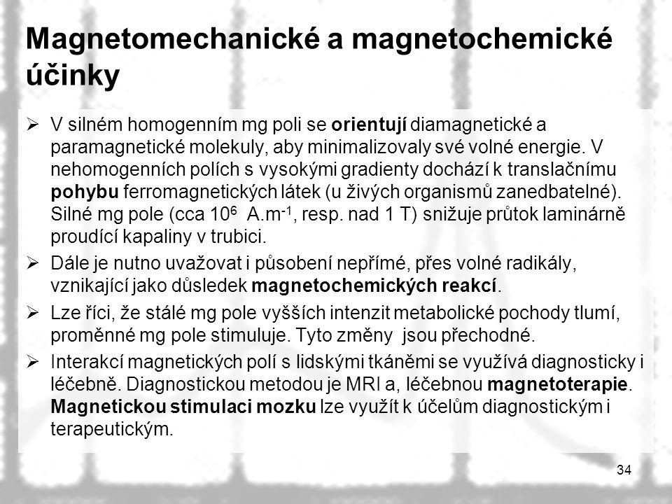 Magnetomechanické a magnetochemické účinky