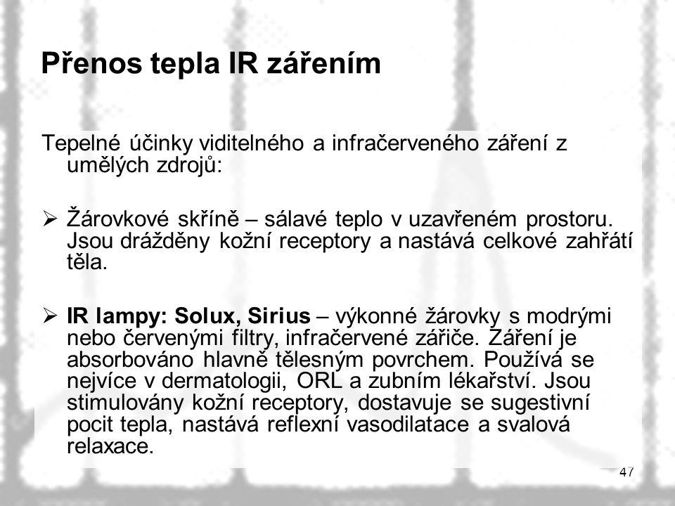 Přenos tepla IR zářením
