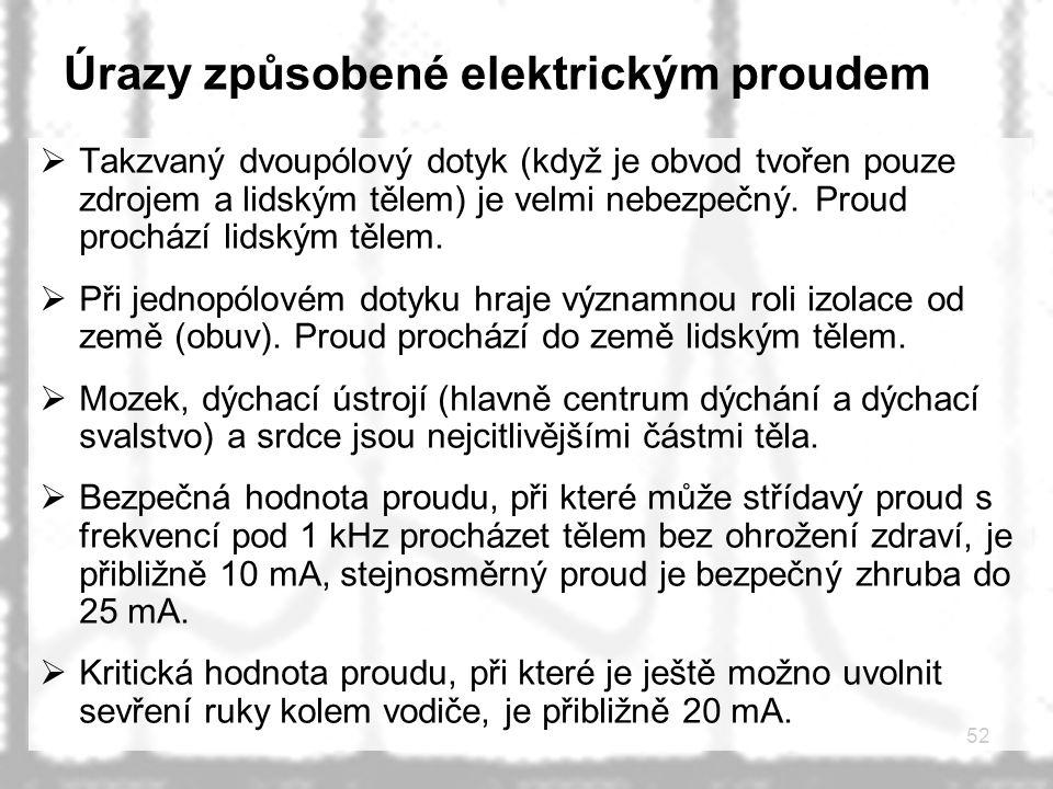 Úrazy způsobené elektrickým proudem