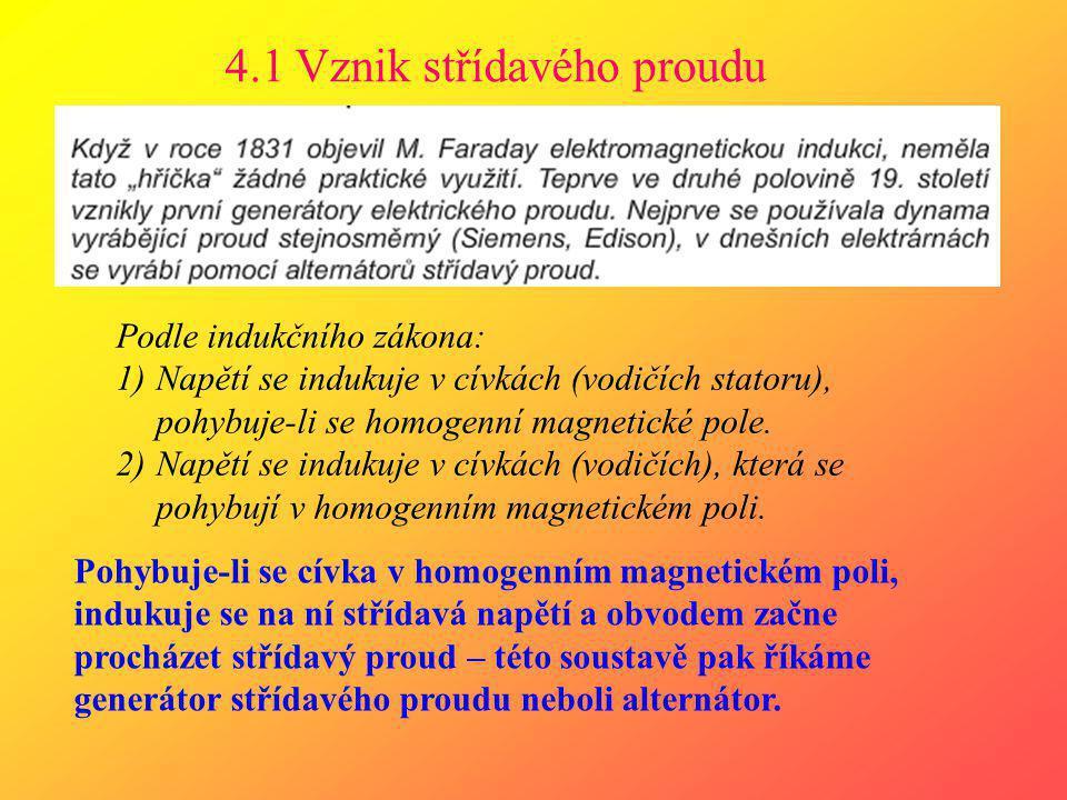 4.1 Vznik střídavého proudu