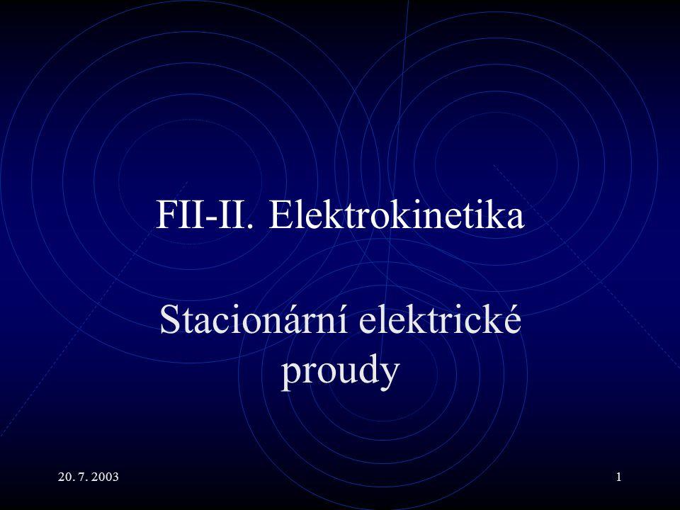 FII-II. Elektrokinetika