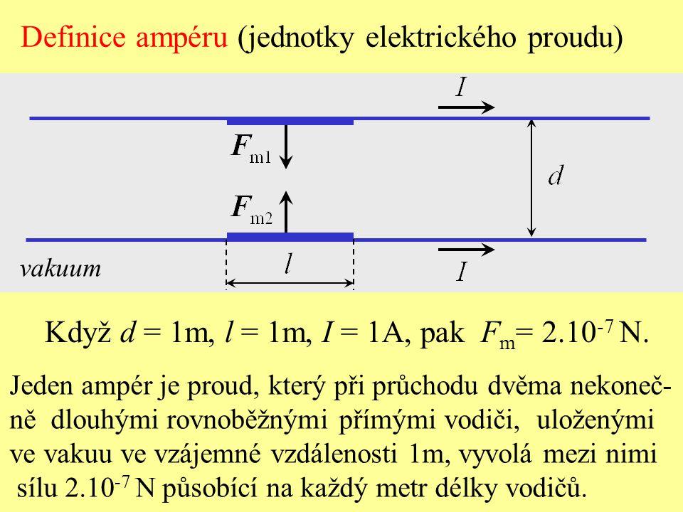 Definice ampéru (jednotky elektrického proudu)