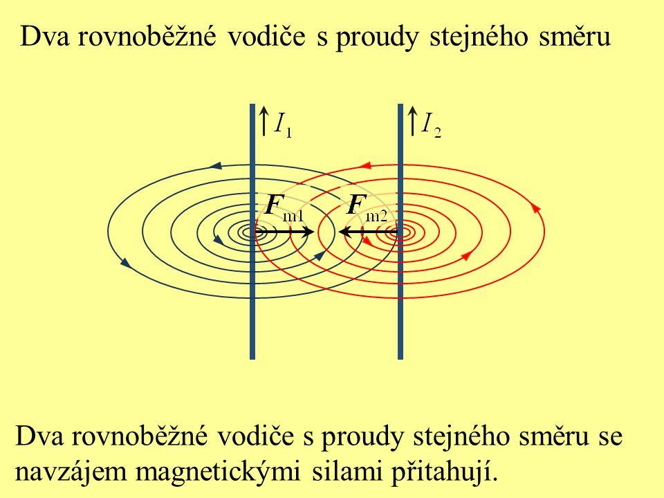 Dva rovnoběžné vodiče s proudy stejného směru