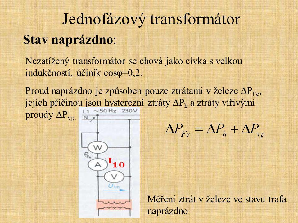 Jednofázový transformátor