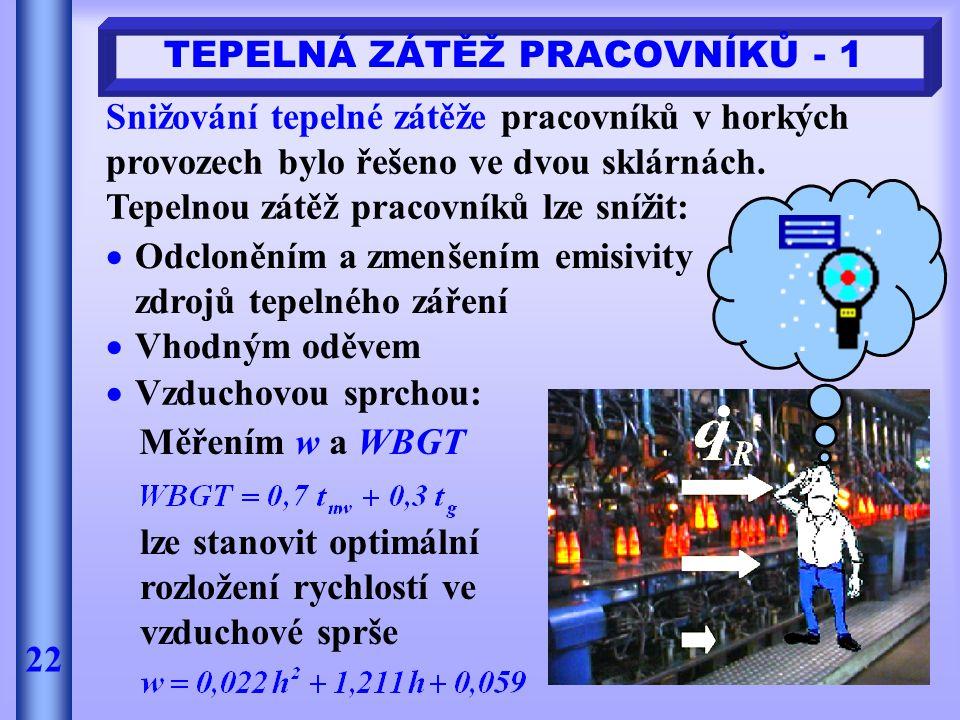 TEPELNÁ ZÁTĚŽ PRACOVNÍKŮ - 1