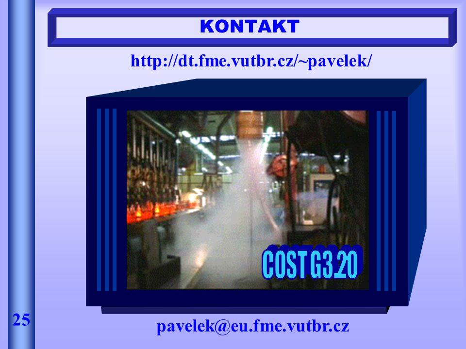 KONTAKT http://dt.fme.vutbr.cz/~pavelek/ 25 pavelek@eu.fme.vutbr.cz