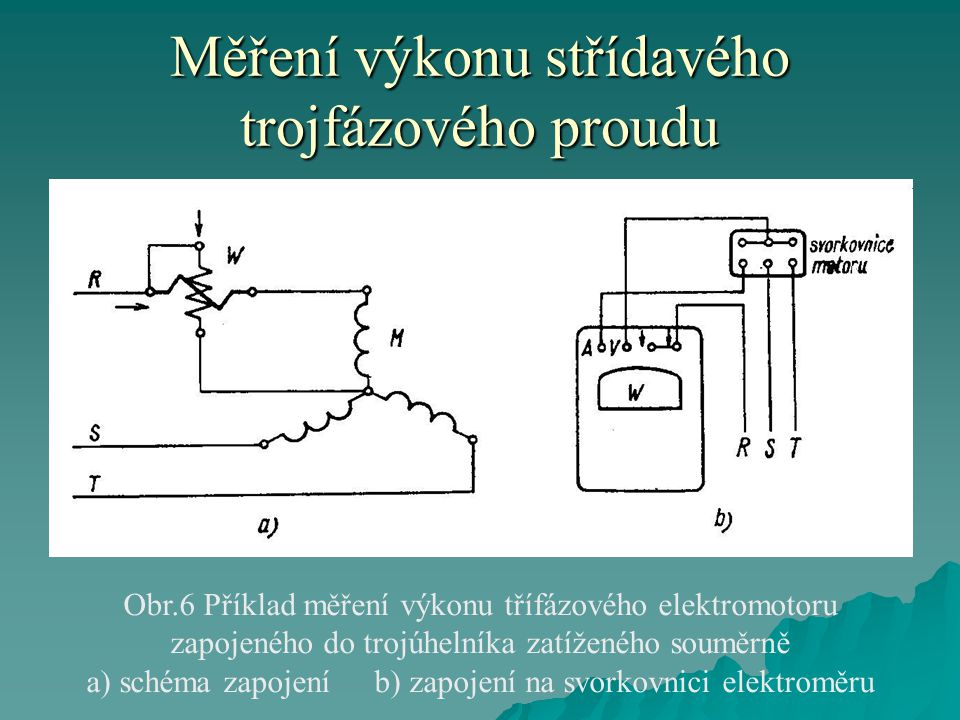 Měření výkonu střídavého trojfázového proudu
