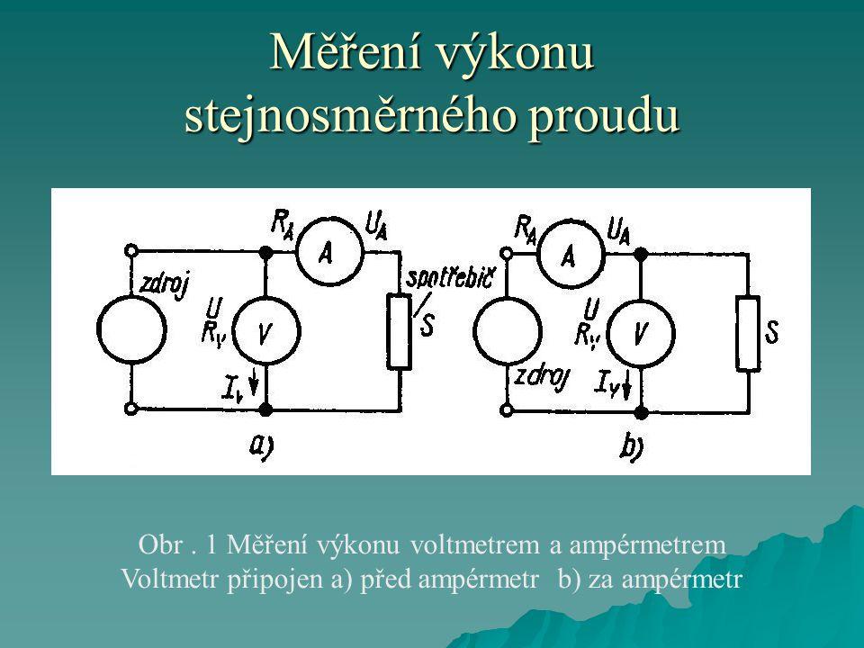 Měření výkonu stejnosměrného proudu