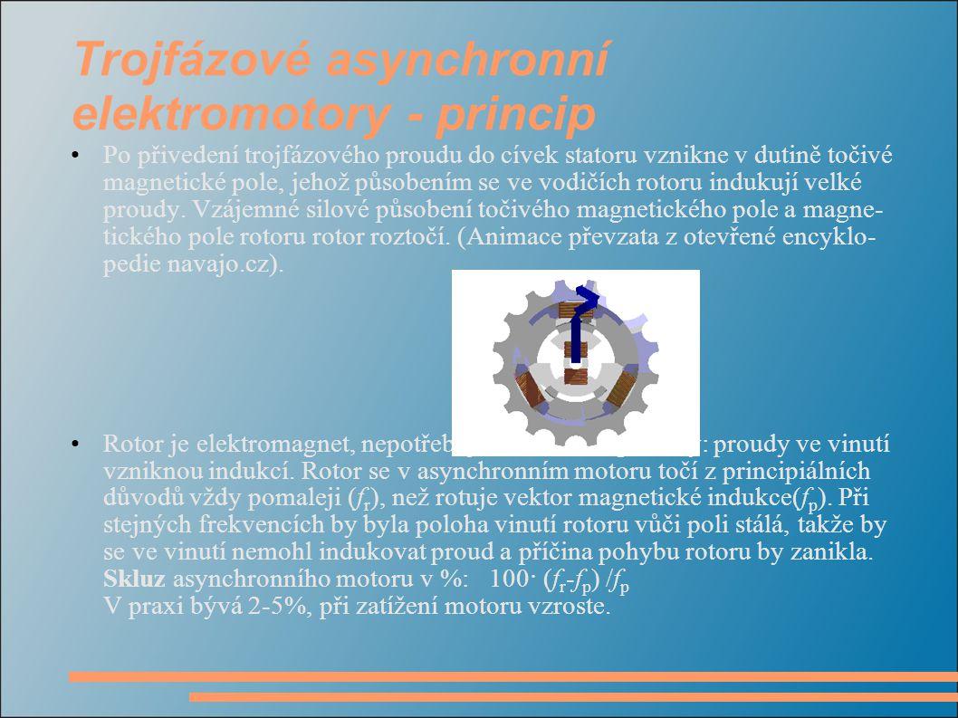 Trojfázové asynchronní elektromotory - princip