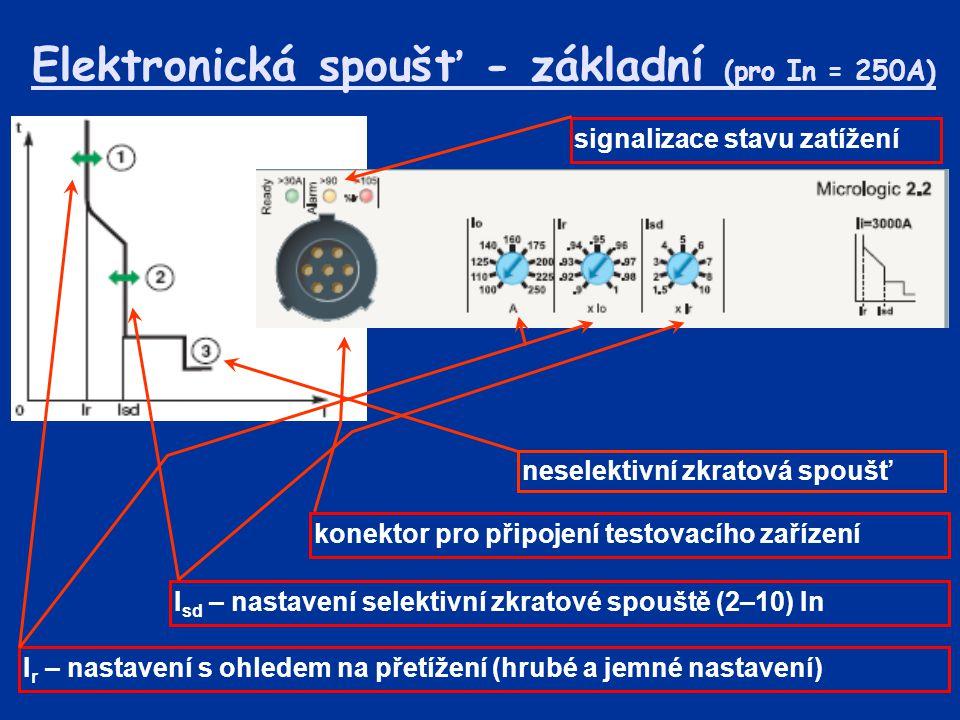 Elektronická spoušť - základní (pro In = 250A)