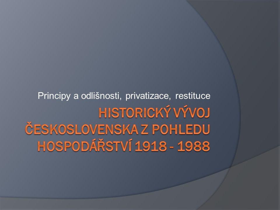 Historický vývoj Československa z pohledu hospodářství 1918 - 1988