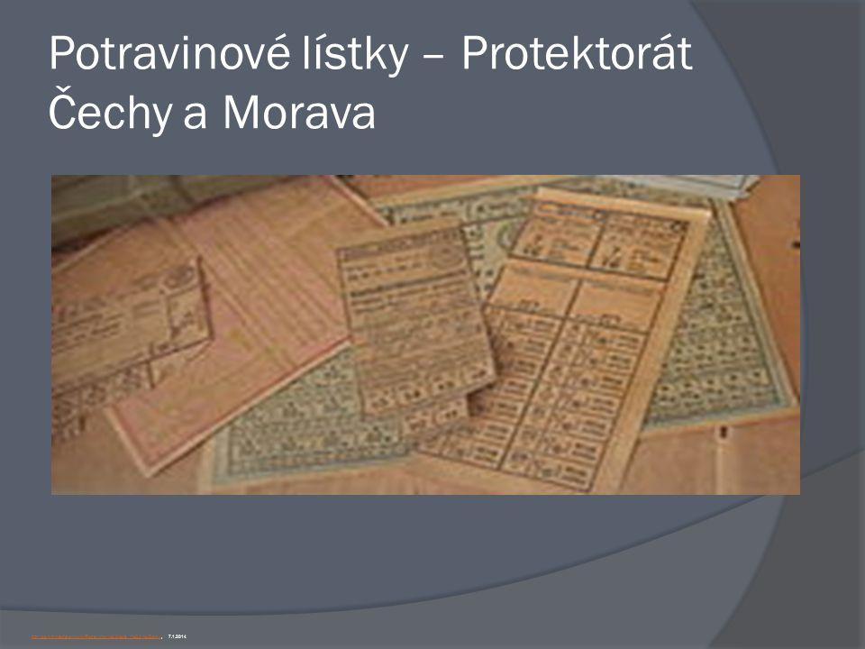 Potravinové lístky – Protektorát Čechy a Morava