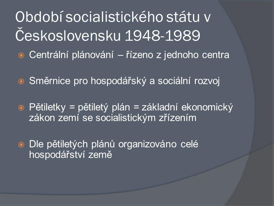 Období socialistického státu v Československu 1948-1989