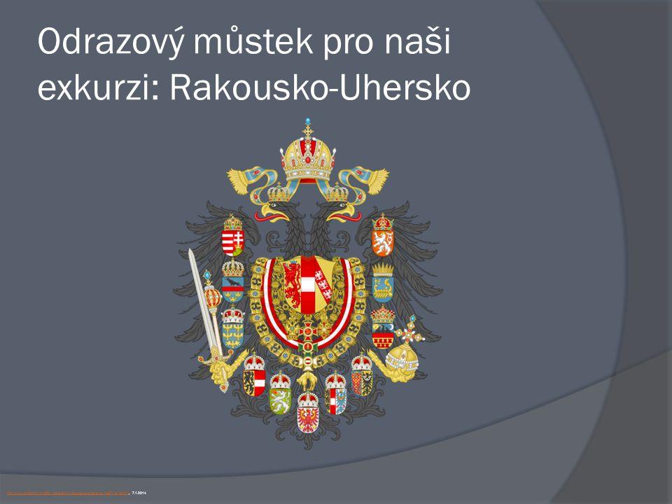 Odrazový můstek pro naši exkurzi: Rakousko-Uhersko