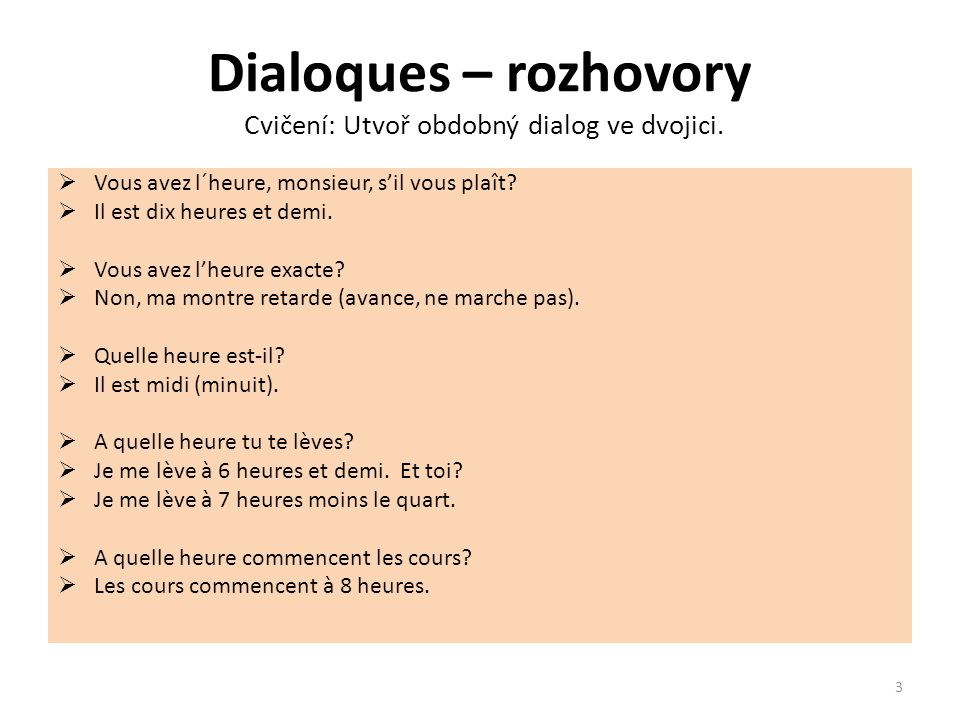 Dialoques – rozhovory Překlad.