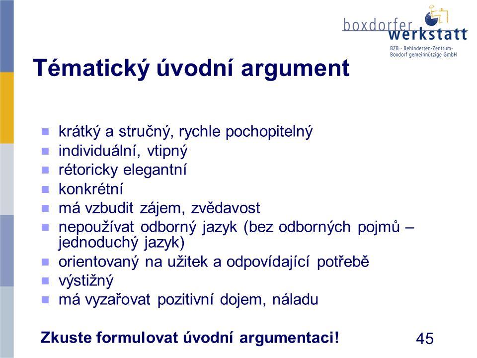 Tématický úvodní argument