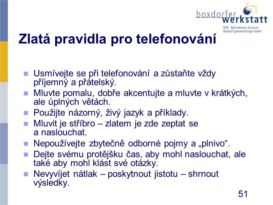 Zlatá pravidla pro telefonování