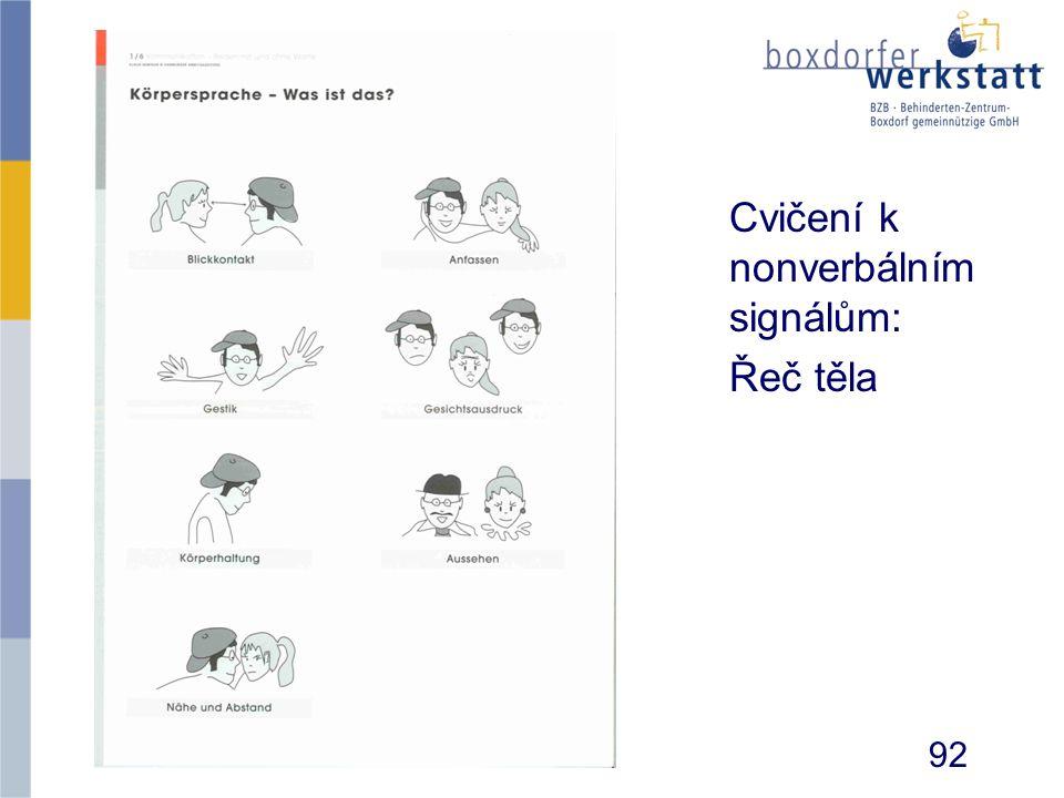Cvičení k nonverbálním signálům: