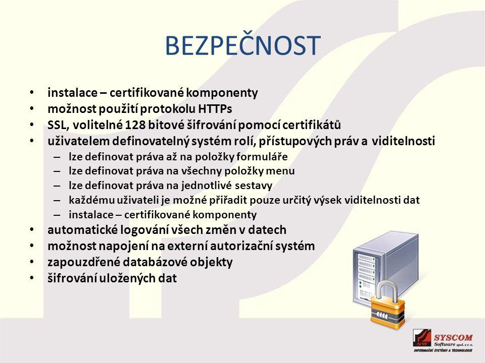 bezpečnost instalace – certifikované komponenty