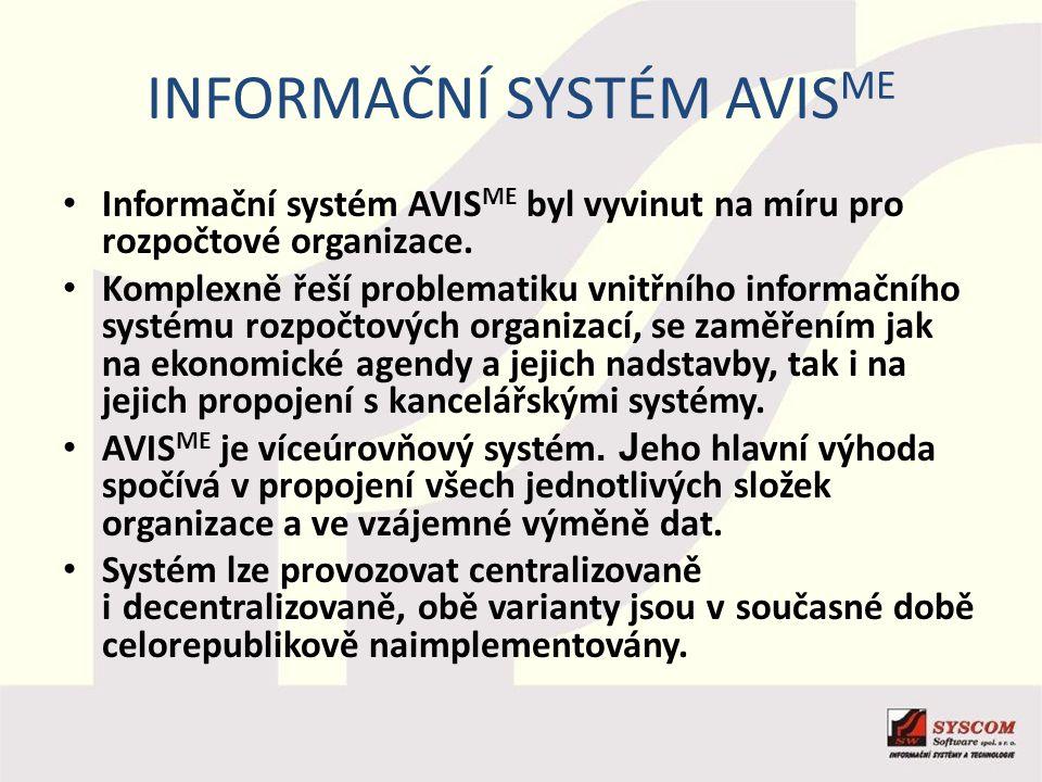 Informační systém AVISME