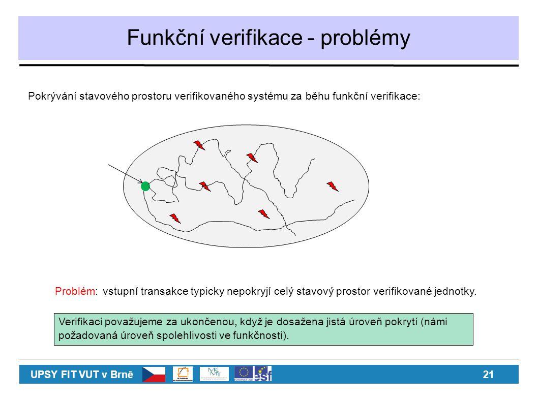 Funkční verifikace - problémy