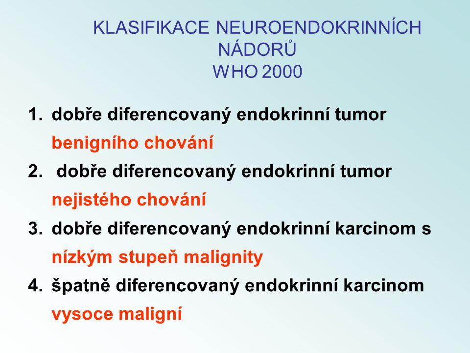 KLASIFIKACE NEUROENDOKRINNÍCH NÁDORŮ WHO 2000