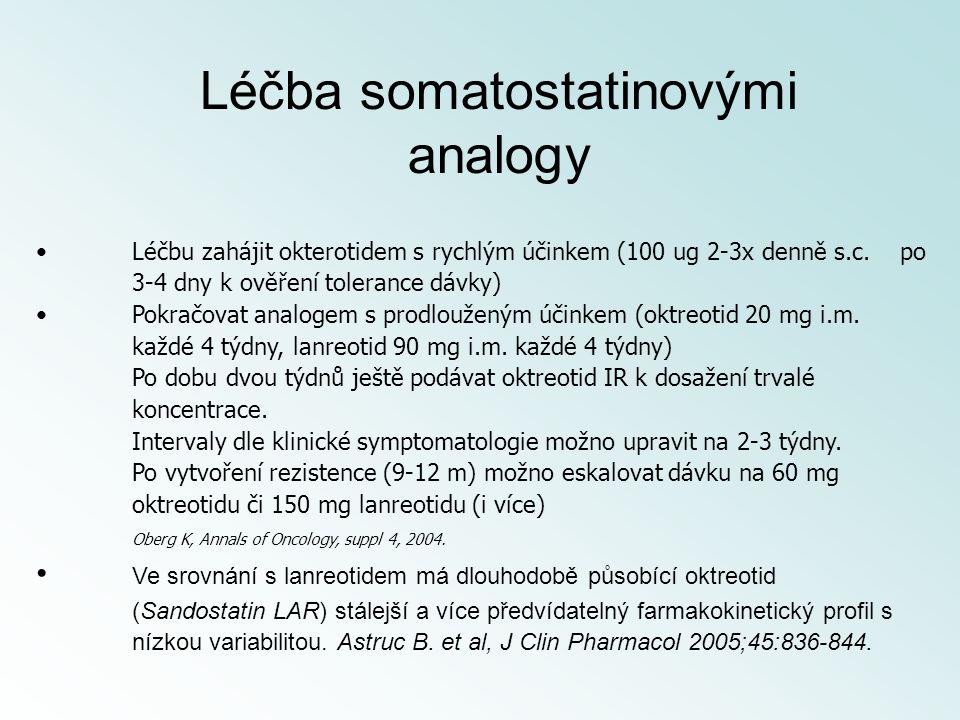 Léčba somatostatinovými analogy