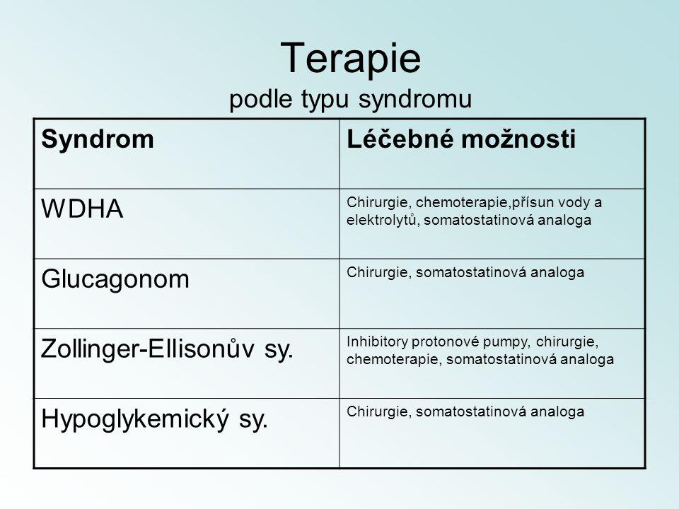 Terapie podle typu syndromu