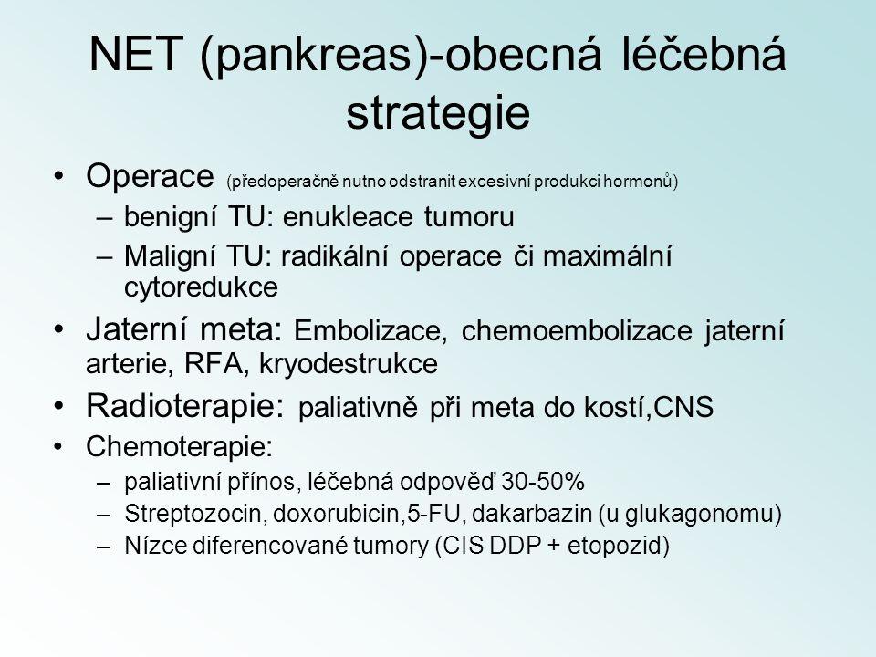 NET (pankreas)-obecná léčebná strategie
