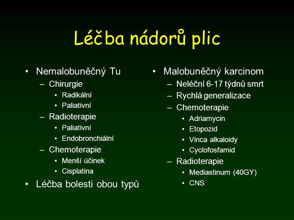 Léčba nádorů plic Nemalobuněčný Tu Léčba bolesti obou typů