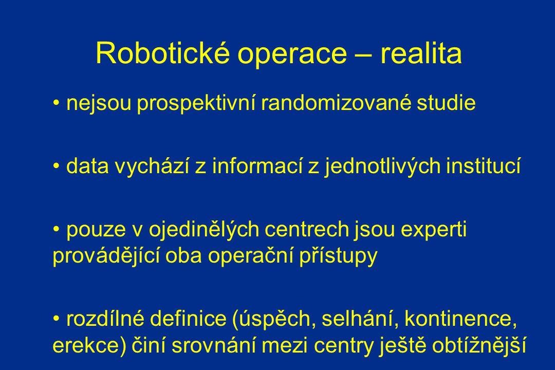 Robotické operace – realita
