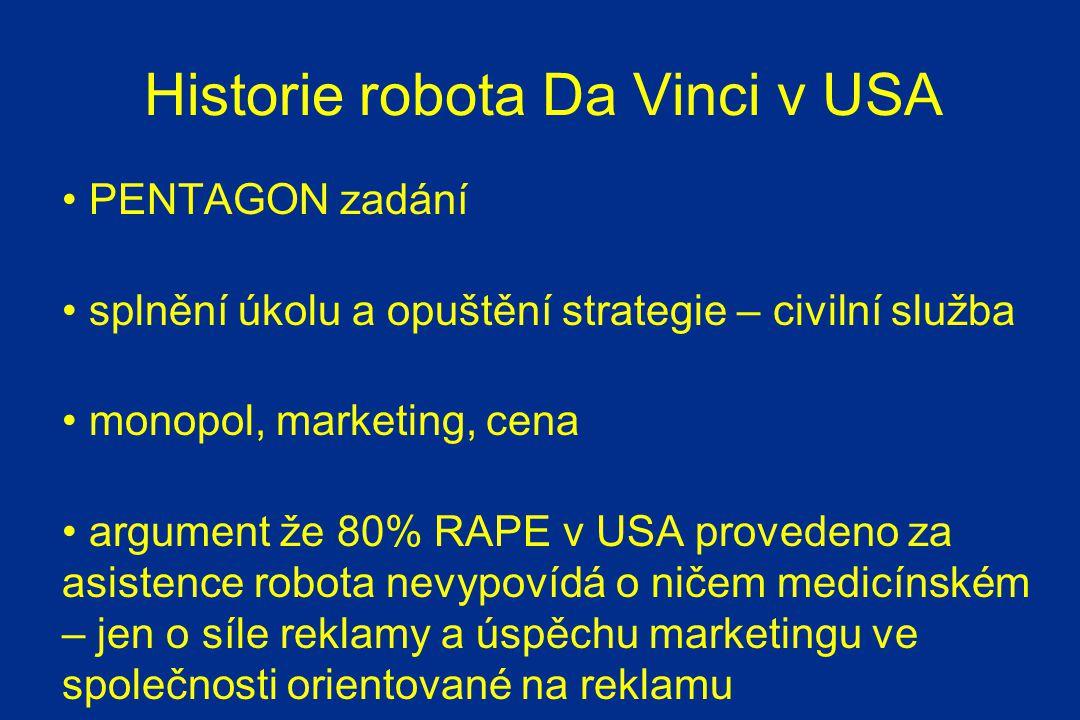 Historie robota Da Vinci v USA