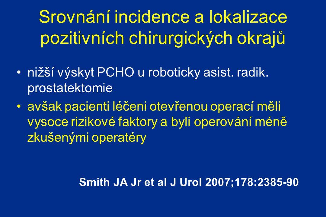 Srovnání incidence a lokalizace pozitivních chirurgických okrajů
