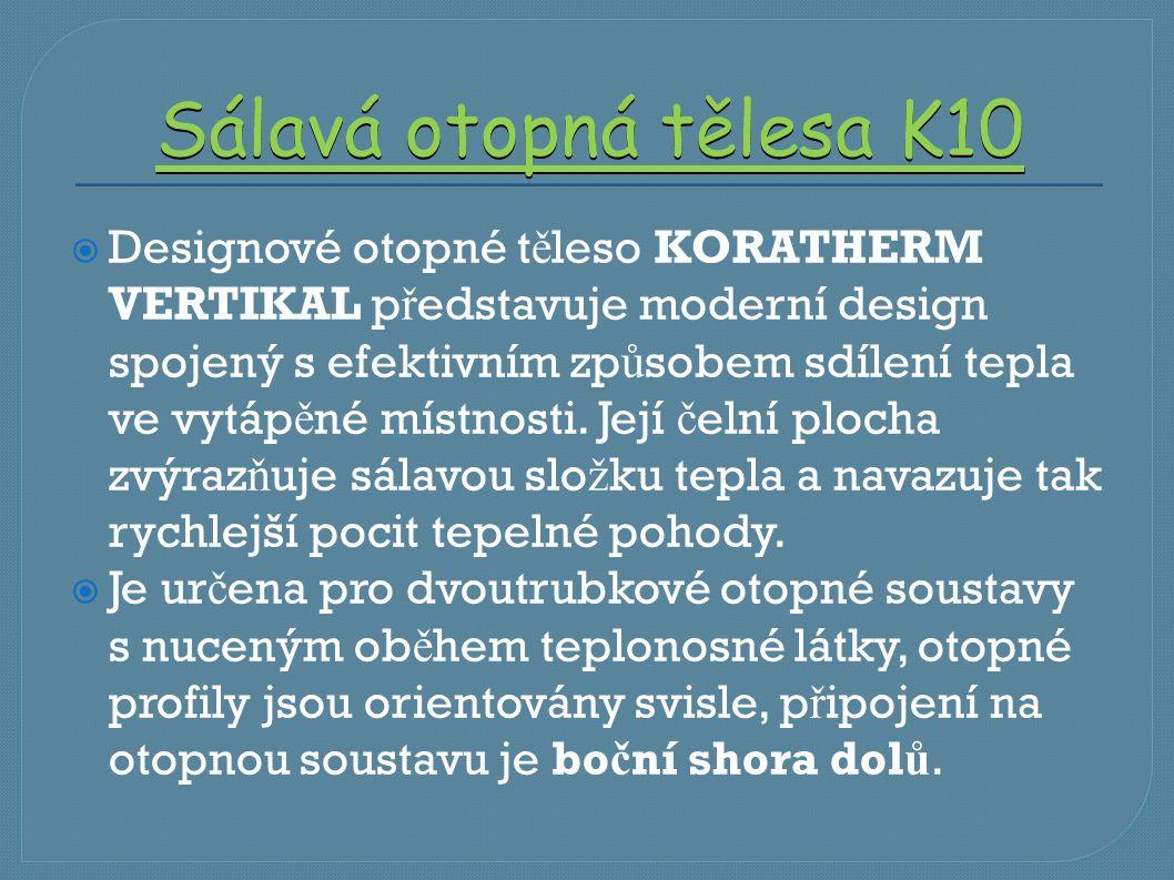 Sálavá otopná tělesa K10