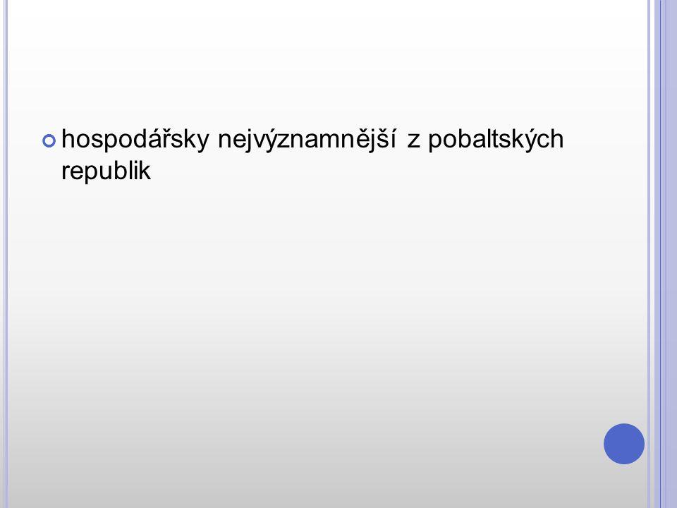 hospodářsky nejvýznamnější z pobaltských republik