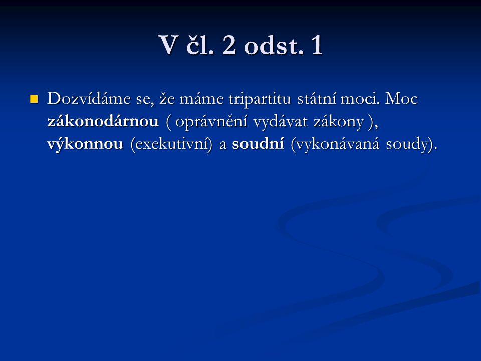 V čl. 2 odst. 1